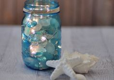 I've been addicted to Mason jar crafts lately, because they always look great. This glowing lighted blue Mason jar is such a pretty, soft accent for any room, and looks great in a nautical/coastal themed …