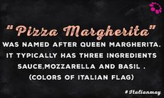 """All hail the Queen! For the droolworthy #Margherita #Pizza. When queen asked the chef to prepare pizza with different toppings he created """"Pizza Margherita"""". In Margherita Pizza Pizza sauce, Mozzarella and Basil denote Red, White and Green color of Italian flag. Our all time favorite. #ItalianMay"""