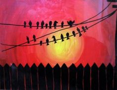 Use Acrylic and Acetate to create some fun silhouettes!
