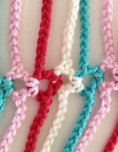 Sommer-Schal fröhliche Perlen häkeln von GabyCrochetCrafts auf Etsy