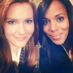This picture just makes us happy!  So says the two stars from their hit show, Scandal.