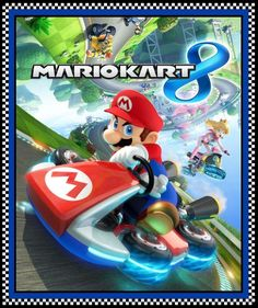 Mario Brother 100% cotton fabric by the panel approx 36 x 44 Mario Kart 8 #SpringsCreative