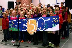 "Children in a Finnish school choir perform a song called ""The Time Is Now"" on their Climate Action Day. Photo by Aapo-Lassi Kankaala/Flickr. https://www.flickr.com/photos/350org/4040191008"