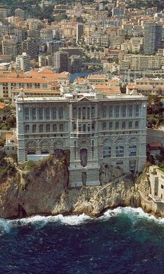Grimaldi Palace in Monte Carlo, Monaco. Traveling by train through this area is breathtaking.