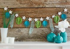 Tropical Leaf Paper Garland
