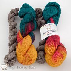 Colorado Sunset from The Loopy Ewe Seasonings Series, Fingering 535 yds, 20% nylon, 80% SW Merino