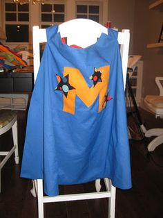 I love this easy cape tutorial!  I've made quite a few of them for the boys and as gifts.