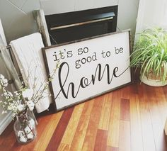 Gorgeous Farmhouse Sign SHOP NOW from $45.00 $5 flat rate shipping | it's so good to be home | farmhouse décor | farmhouse style | fixer upper | wood signs | rustic sign | pallet sign | rustic décor | be still | home décor