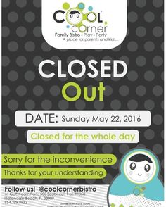 This sunday will be closed for the whole day !Thanks for your understanding Thankful, Corner, Sunday, Cool Stuff, Instagram, Domingo, Cool Things