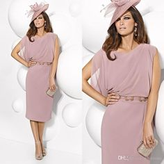 Joan Joan Rivers Vintage Plus Size Sheath Mother Of The Bride Groom Dress 2016 Short Tea Length Sash Chiffon Women Formal Evening Gown Special Occasion Wear Joan Rivers On From Whiteone, $100.46| Dhgate.Com