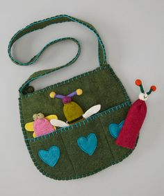 Take a look at this Green Bug Wool Shoulder Bag by Royal Handicrafts on #zulily today! $15 !!