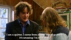 Bernard Black comes from a long line of quitters. British Humor, British Comedy, Black Books Quotes, Me Quotes, What Is Drama, Dylan Moran, Self Deprecating Humor, Great Tv Shows, Humor