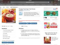 Snappy Asparagus Dip