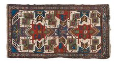 A Caucaso Star Kazak rug end 19th early 20th century.One the end is restored. from cambi casa d'este