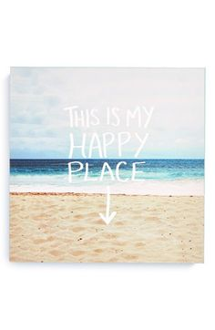 DENY Designs 'Leah Flores - This Is My Happy Place' Canvas Wall Art available at #Nordstrom