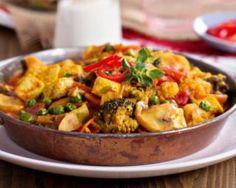 Wok de tofu aux légumes spécial cuisine végétarienne