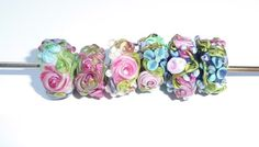Chintz Garden Beads / Orphans by Beadsagogo on Etsy, $20.00