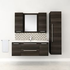 """Cutler Kitchen & Bath Silhouette 48"""" Wall Hung Vanity & Reviews…"""