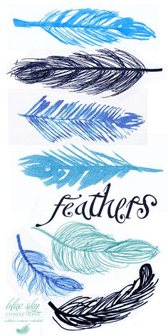 Use to be my favorite thing to draw  Feather Doodles