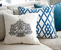 Some stylish details from the home of Bill and Giuliana Rancic as featured in Traditional Home