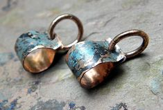 ***Copper Bails , Charcoal patina*** ***Item Description*** This listing is for 2 pendant bails. They are handmade by me. Looking for a simple way to display some of your pretty beads as pendants, then these are for you! They are a great size! Please feel free to ask questions