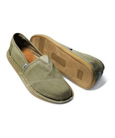 Take a look at this Khaki Corduroy Stitchouts - Men by TOMS on #zulily today!