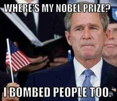 And suddenly George W. Bush is back: