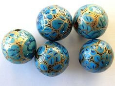paper beads | Paper Mache Bead 18-20mm (PM25)