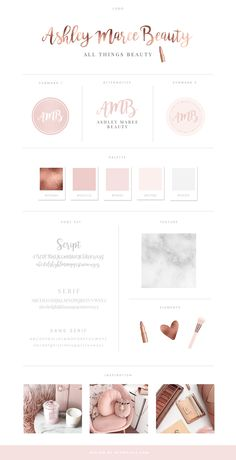 Branding and design for beauty blog Ashley Maree Beauty