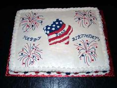 Image Detail for - patriotic jpg patriotic fireworks cake return to creative cakes home
