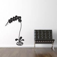 Orkide i vase wallsticker Vase, Home Decor, Dekoration, Interior Design, Vases, Home Interior Design, Home Decoration, Decoration Home, Interior Decorating