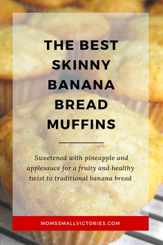Banana Pineapple Muffins that Bring the Tropics to Breakfast and Dessert Yummy Healthy Snacks, Healthy Muffins, Healthy Dessert Recipes, Smoothie Recipes, Healthy Food, Desserts, Skinny Banana Bread, Banana Bread Muffins, Healthy Banana Bread