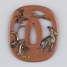 Sword Guard (Tsuba) Date: 19th century Culture: Japanese Medium: Copper…
