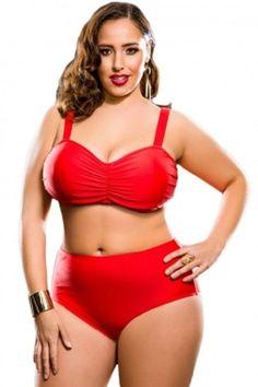 f54ca96587 Red Plus Size High Waist Bikini Swimsuit 3X, 4X #Unbranded #Bikini Bikini  Swimsuit