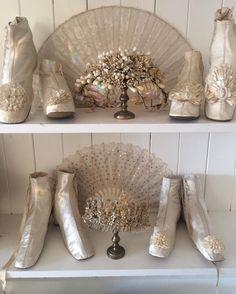 "42 Likes, 2 Comments - Sheelin Antique lace shop (@sheelinlace) on Instagram: ""Antique wedding boots #antiquewedding #antiquecostume"""