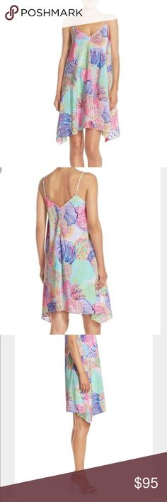 """Sale!!!!!!!! Lilly Pulitzer Silk Clara dress Gorgeous silk dress in the print """"multi roar of the sea"""". Love this dress, but I need to clear my closet for more Lilly 😍 this dress is brand new with tags never worn! Note: this dress is brand new and is normally $198+ no low ball offers will be accepted, thank you. Lilly Pulitzer Dresses Midi"""