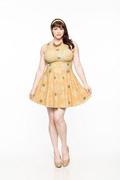 Sunburst A-Line Dress - Gold Bubble Clothing