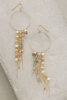 Chameli Fringed Hoops - anthropologie.com