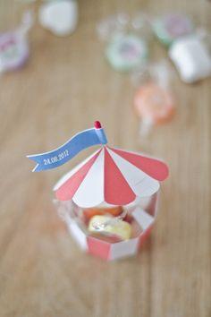 Printable circus tent for snacks etc