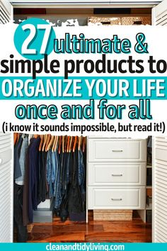 We've scoured the best organizing products on Amazon and the wider web to find the most revolutionary storage ideas, to give you the best of the best! Our list of best home storage products and cheap organization hacks. Home Organisation Tips, Organization Hacks, Organize Your Life, Organizing Your Home, Homemaking, Declutter, Clean House, Wardrobe Rack, Home Goods