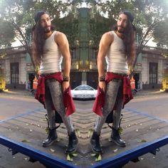 H☯✞KISSB☮Y TOO GALM TO GIVE A DAMN - Von Dutch Tank Top, Asos Acid Wash Spray On Skinny Jeans, Dr. Martens Boots, Boy London Cap, Zara Tartan Shirt - Lonely streets
