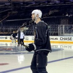 5/23/13 Zedeno Chara at morning skate before 2nd round playoff game 4 at NY Rangers.