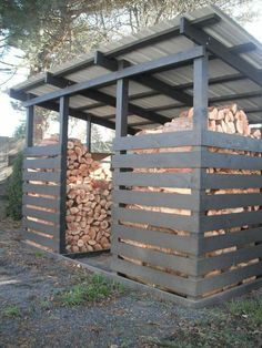Amazing Shed Plans Woodshed for winter wood. - Gardening Inspire - Gardening Prof Now You Can Build ANY Shed In A Weekend Even If You've Zero Woodworking Experience! Start building amazing sheds the easier way with a collection of shed plans! Outdoor Firewood Rack, Firewood Shed, Firewood Storage, Lumber Storage, Diy Storage Shed Plans, Wood Shed Plans, Wood Storage Sheds, Diy Storage Outdoor, Storage Ideas