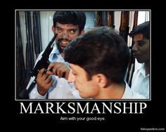 Marksmanship - Demotivational Poster