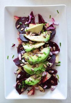 Rote+Beete+Apfel+Salat+mit+vielen+Vitaminen+und+Mineralstoffen.+Sehr+einfaches+Salat+Rezept,+schnell,+vegan+und+glutenfrei!