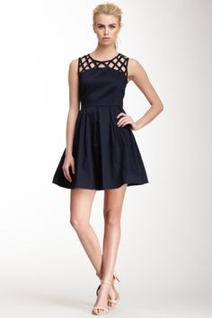 Rhetta Lattice Yoke Dress