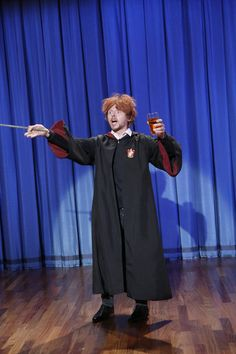 Simon Pegg as Drunk Ron Weasley. Perfect.