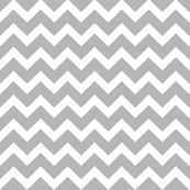 White and Gray Chevrons by littlebdesigns