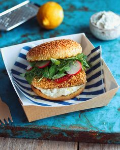 This burger is a healthy twist on my 'fish' & chips recipe which was a big hit on youtube. The 'fish' element is gluten free & cooked with out using any oil. It can be served with salad or in a gluten free bun. Make sure you have a go at the tartar sauce too!