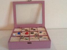 Scatola porta anelli ricavata da una scatola per il tè!
